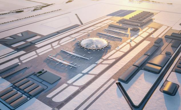 Una enorme cúpula, el centro del proyecto