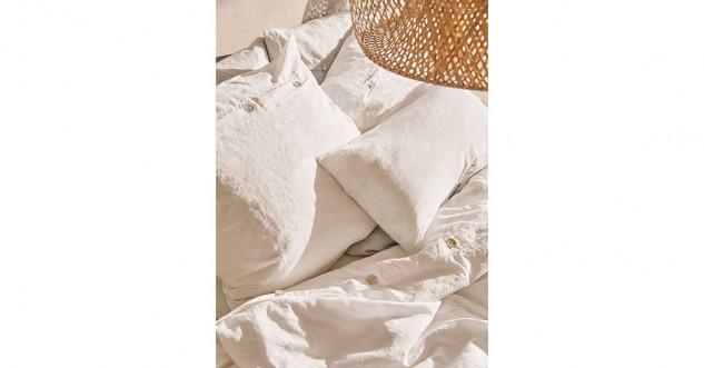 draps blancs en lin