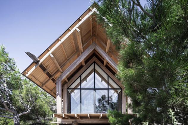 El techo, a dos aguas