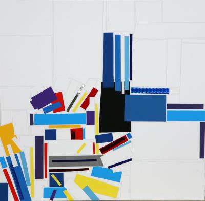 Collage de Arancha Goyeneche por 900 euros +IVA (36,5 x 37,5 cm enmarcado)