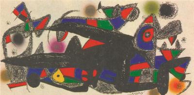 Grabado de Joan Miró por 500 euros +IVA (20 x 40 cm)