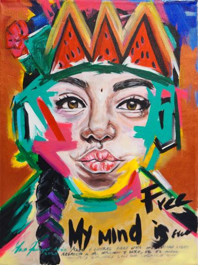 Pintura de Maca Pelayo por 350 euros (40x30 cm)