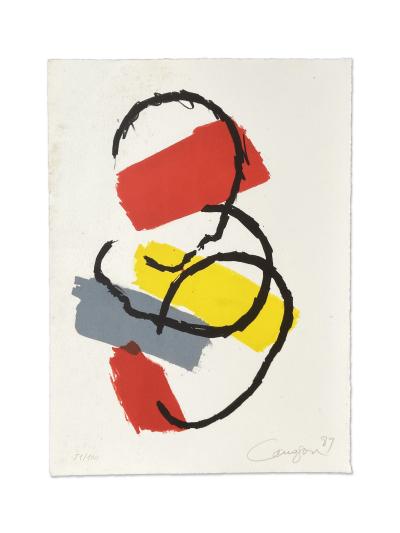Grabado de Rafael Canogar por 400 euros (32x24 cm)