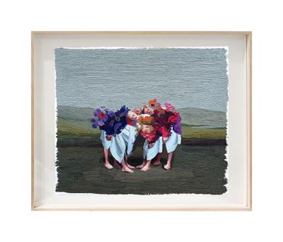 Pintura de Javier Ruiz por 480 euros (14,3x16,9 cm)