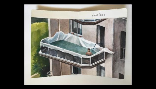 Pintura de Federico Granell por 375 euros (20x28 cm)