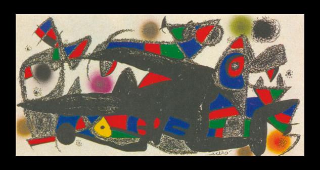 Grabado de Joan Miró por 500 euros (20x40 cm)