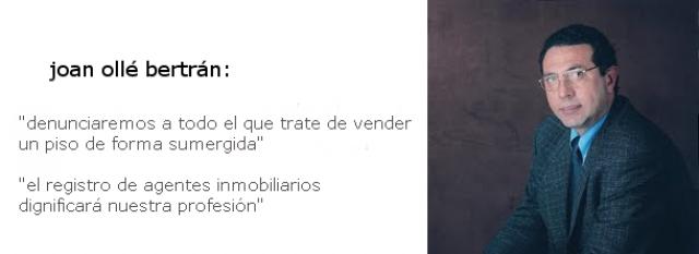 joan ollé, presidente de los agentes de la propiedad inmobiliaria (api) de barcelona