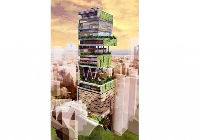 antilla, la casa más grande del mundo, está en mumbai (india)