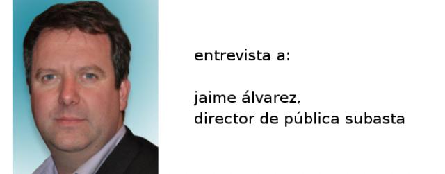 jaime álvarez, director de la revista pública subasta