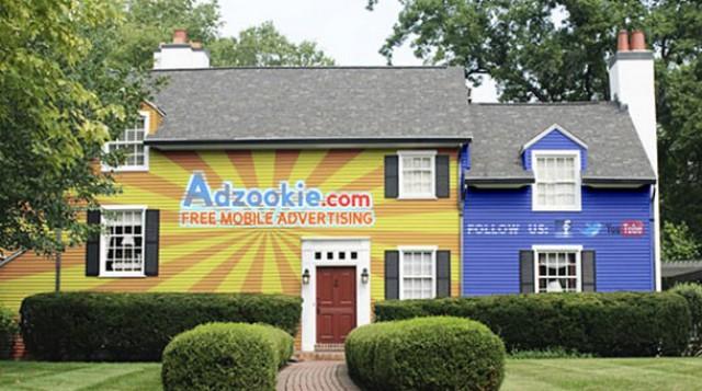 casas que se convierten en vallas publicitarias para pagar la hipoteca