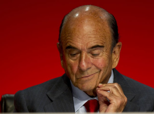 emilio botín, presidente de banco santander