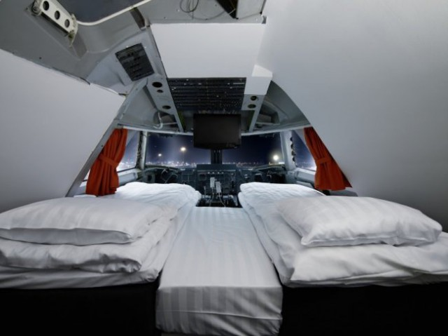 jumbo stay, hotel a bordo de un avión en estocolmo
