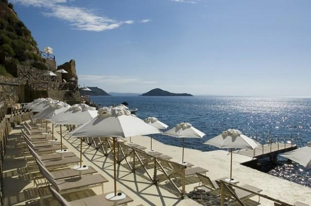 vistas al mar desde el hotel il pellicano