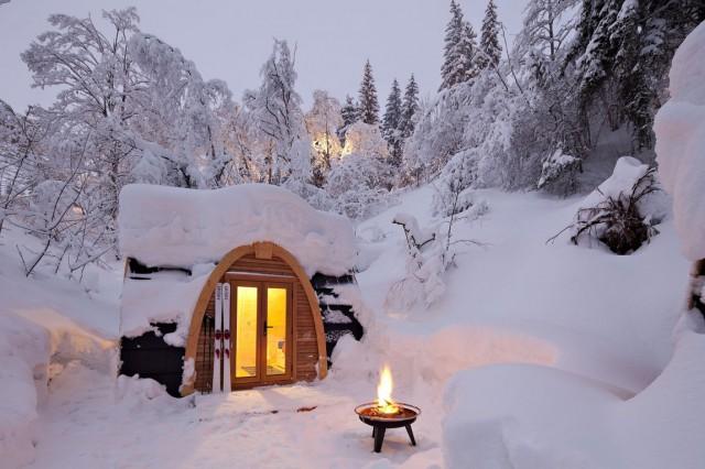 podhotel, un refugio ecológico para dormir entre la nieve