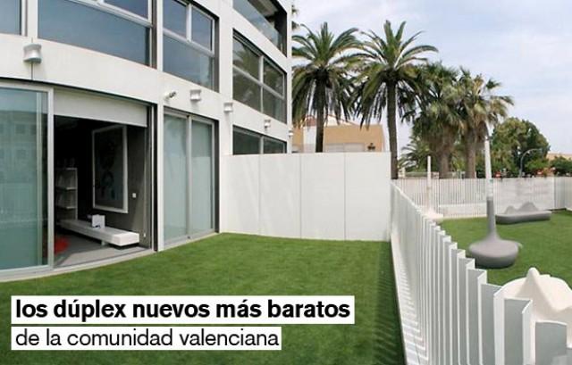 los 20 dúplex nuevos más baratos de la comunidad valenciana