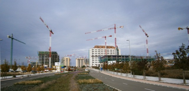 viviendas en construcción en valdebebas