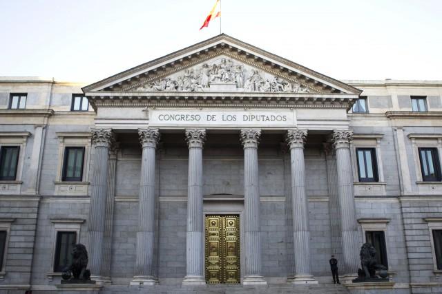 fachada principal del congreso de los diputados