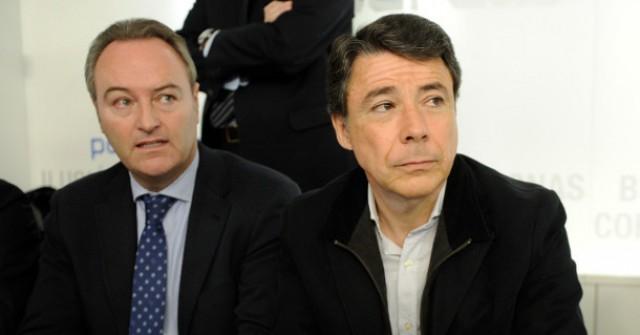 a la izq. alberto fabra, presidente de la c.valenciana, y a la drcha. ignacio gonzález, presidente de la c.madrid