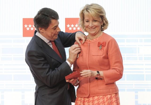 ignacio gonzález, presidente de la comunidad de madrid, con esperanza de aguirre