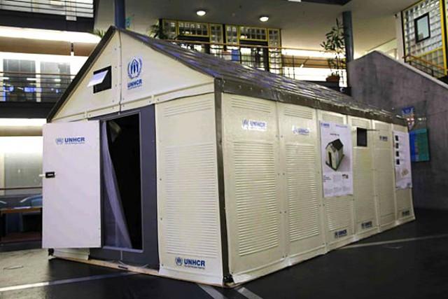 prototipo de vivienda prefabricada para refugiados