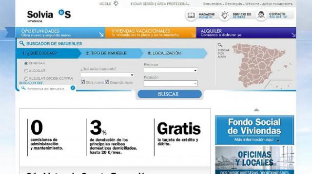 web de solvia, innmobiliaria de banco sabadell