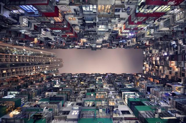 arquitectura vertical en hong kong