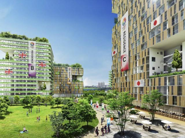 imagen del proyecto de la villa olímpica de tokio 2020