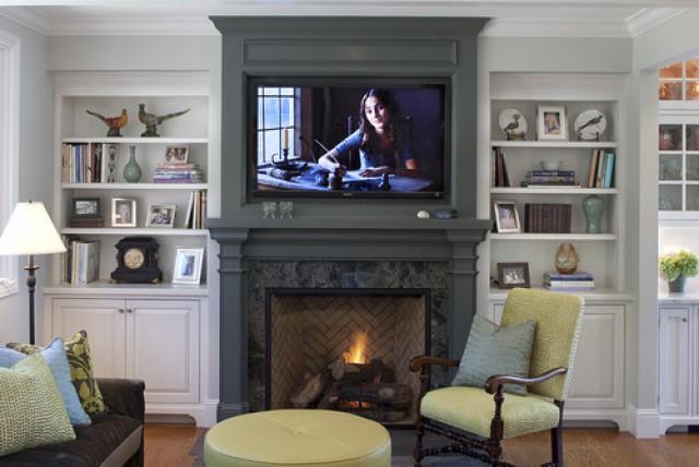 ideas de decoracin 6 formas de combinar la televisin y la chimenea en el saln fotos idealistanews - Decoracion De Salones Con Chimenea