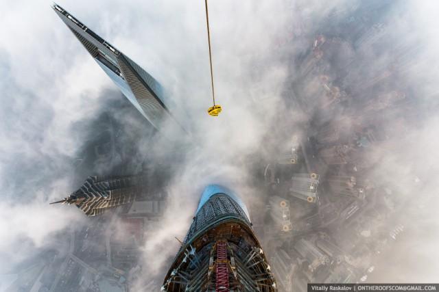 imágenes desde la torre de shanghai, a 650 metros