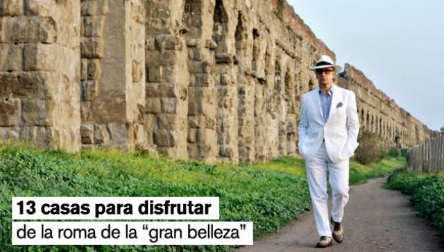 jep gambardella, protagonista de 'la gran belleza', mientras camina por el acueducto claudio
