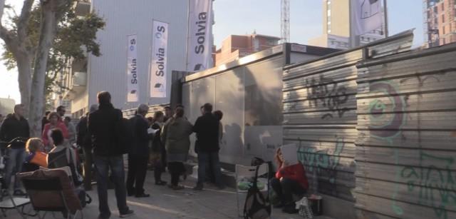 colas en la primera promoción propia de Solvia en Barcelona