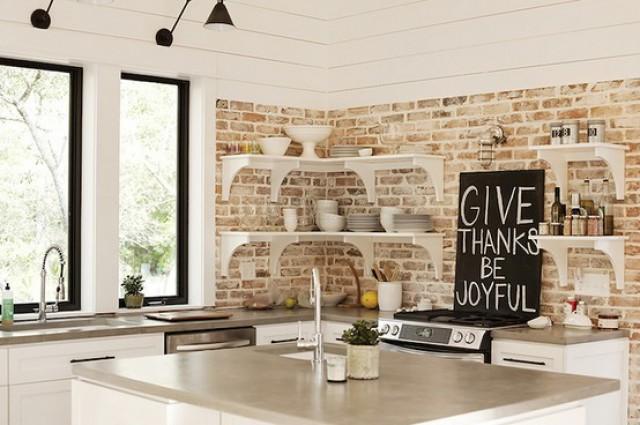 Cocinas De Ladrillo Rustico | Ideas De Decoracion Paredes De Ladrillo Visto Para Darle Un Toque