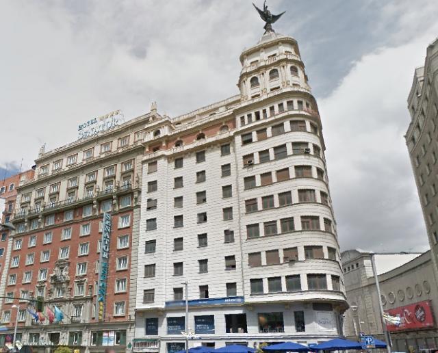 Edificio en Gran Vía 68. Google Maps