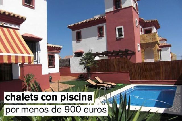 chalets en alquiler con piscina por menos de 900 euros/mes