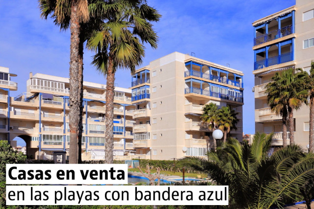 Casas baratas en las playas con bandera azul