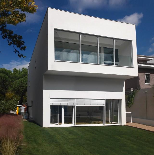 Foto de una casa pasiva