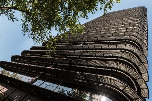 La Torre BBVA en el centro financiero de Madrid