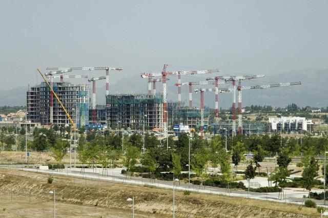 Complejo residencial en construcción en Madrid