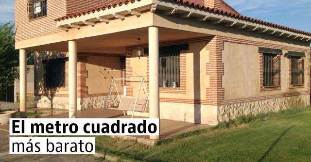 Las casas más baratas por metro cuadrado