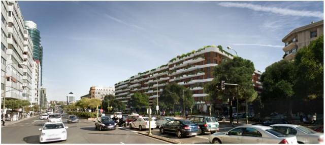 El futuro edificio de viviendas en pleno centro de Madrid