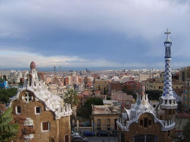 Vistas de la ciudad desde el pavellón de entrada. Fuente: Wikimedia