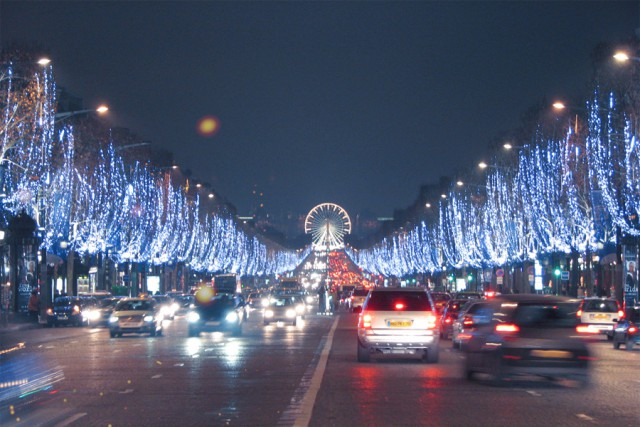 Campos Elíseos de París en Navidad