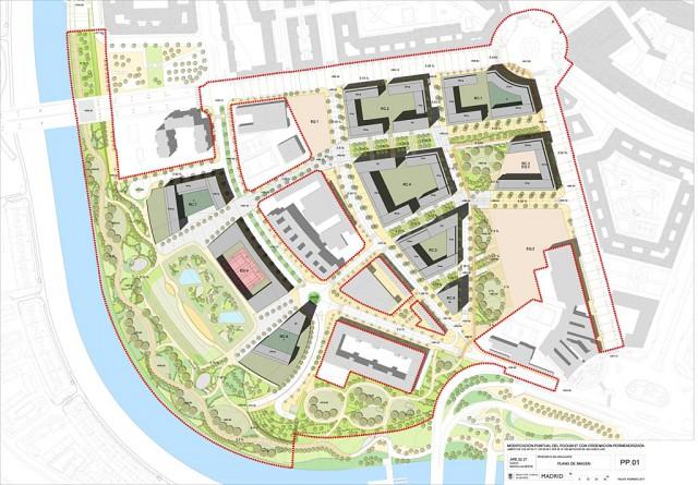 Plano del ámbito Mahou-Calderón / Ayuntamiento de Madrid