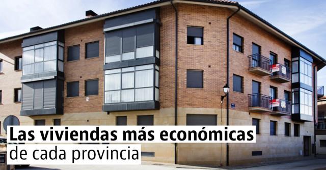 Las viviendas más económicas de cada província