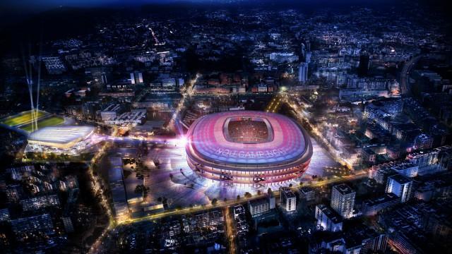 Recreación futuro Camp Nou y Espai Barça. / F.C. Barcelona