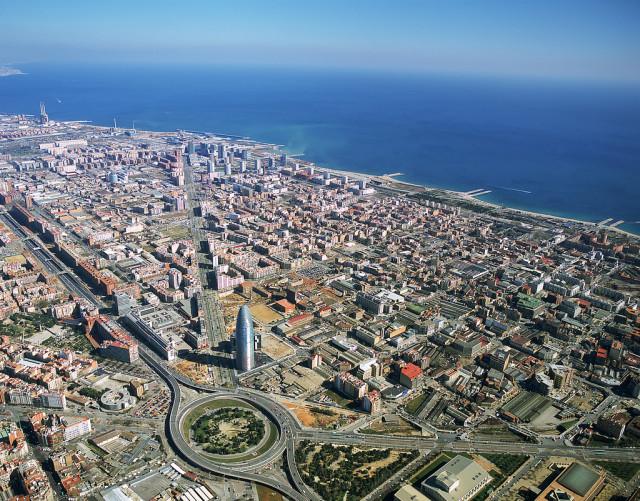 Vista aérea del distrito 22@ / Eurecat