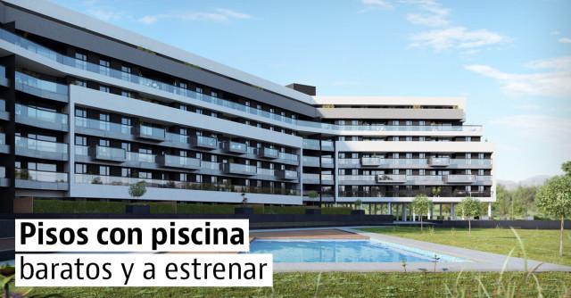 Pisos nuevos con piscina y baratos en España