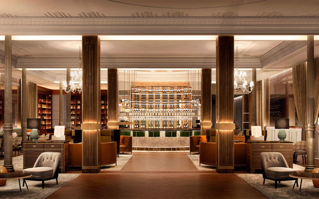 Así ha quedado el hotel y el bar del hotel tras la reforma / Gran Hotel Inglés