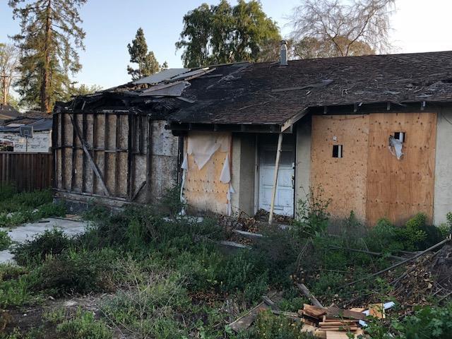 La vivienda se quemó hace dos años