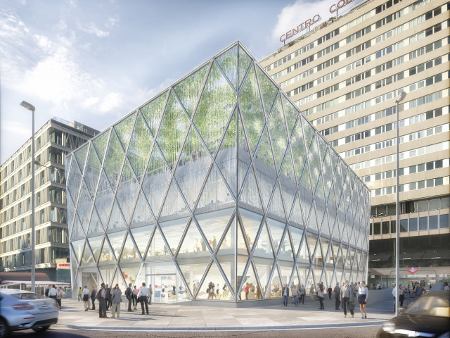 La fachada del edificio se ha reconfigurado con una estructura en diagrid / CBRE Global Investors